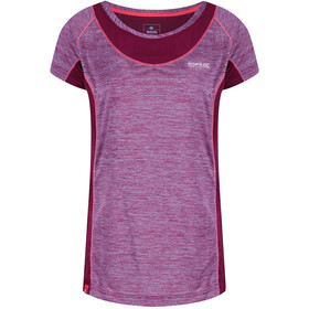 Regatta Breakbar IV Camiseta Manga Corta Mujer, beetroot/beetroot reflective